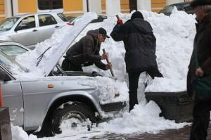 Snowstorm in Kyiv